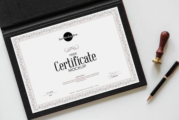 Free Certificate Mockup PSD-min