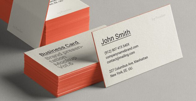 Psd Business Card Brand Mockup Vol6