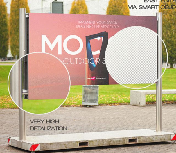 FREE OUTDOOR SIGNAGE MOCK-UP IN PSD