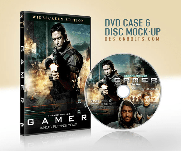 Free CD DVD Case & Disc Cover Mock-up PSD