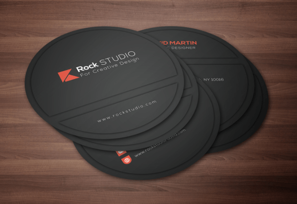 Circle Business Card Design