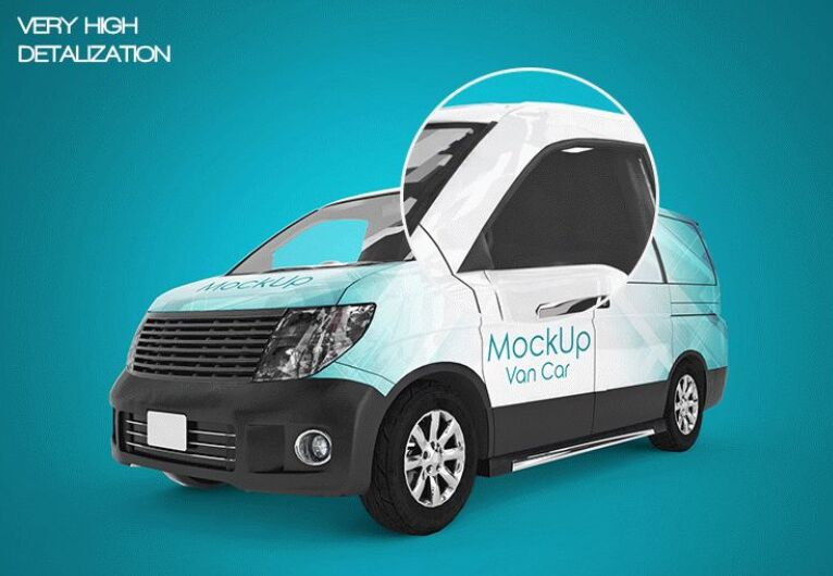 3 FREE VAN CAR MOCK-UPS