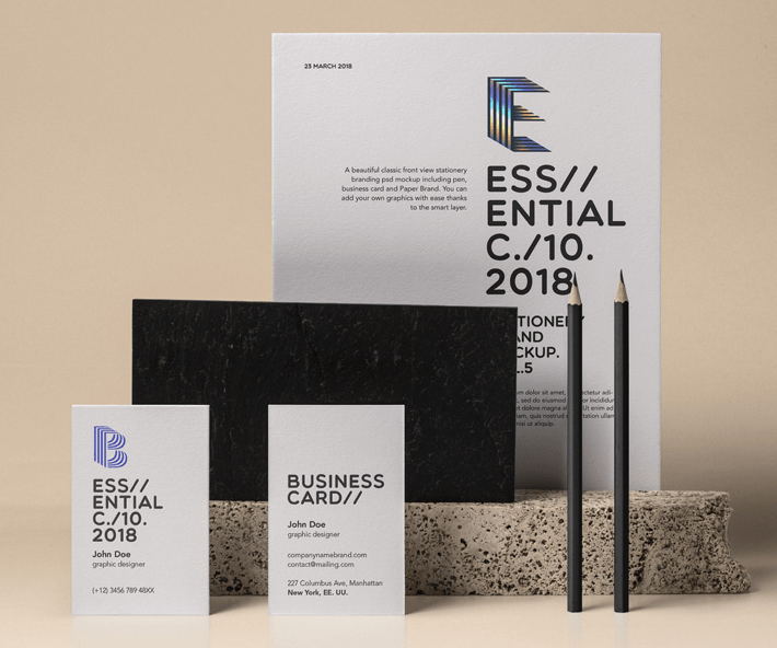 Essential Stationery Psd Mockup Vol5