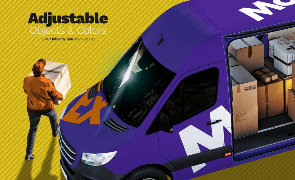Free Ultra Realistic Delivery Van Mockup Set
