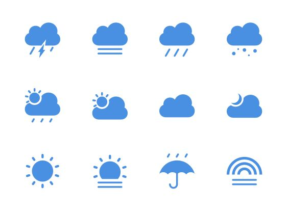 Simple Climate IconSet Sketch-min