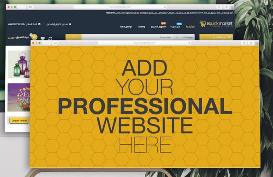 Free Web Browser Photoshop Mockup Set-min