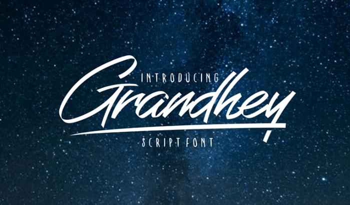Grandhey Script Font-min