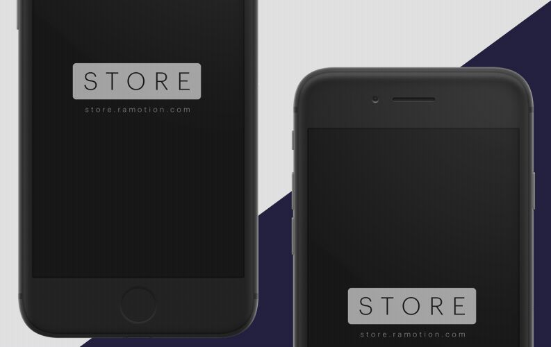 iPhone Clay White & Black [PSD+Sketch]