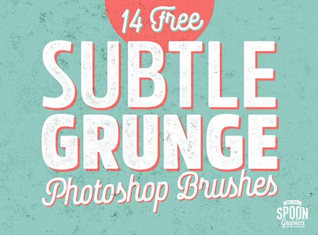 14 Free Subtle Grunge Texture Brushes for Adobe Photoshop