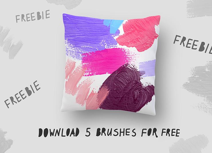 5 Free Acrylic Photoshop Brushes-min