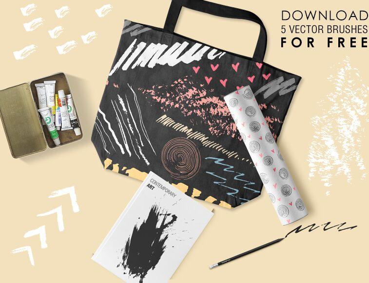 5 Free Brushes for Adobe Illustrator-min