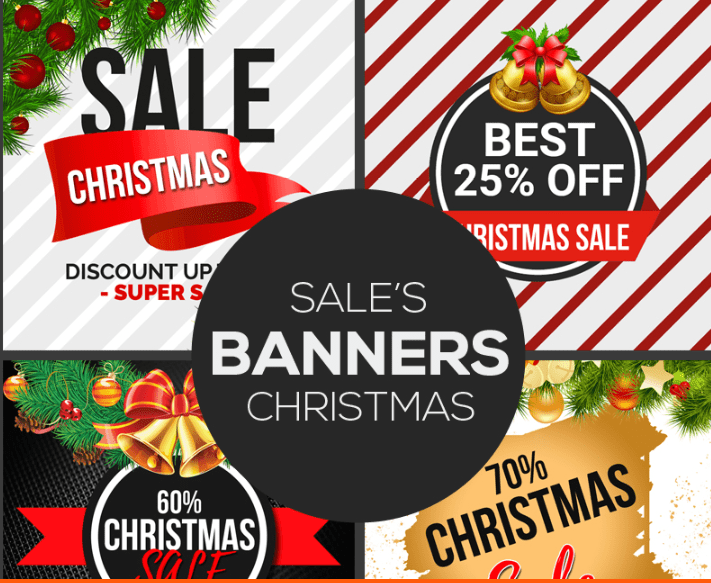 Free Christmas Sale Banners PSD Template