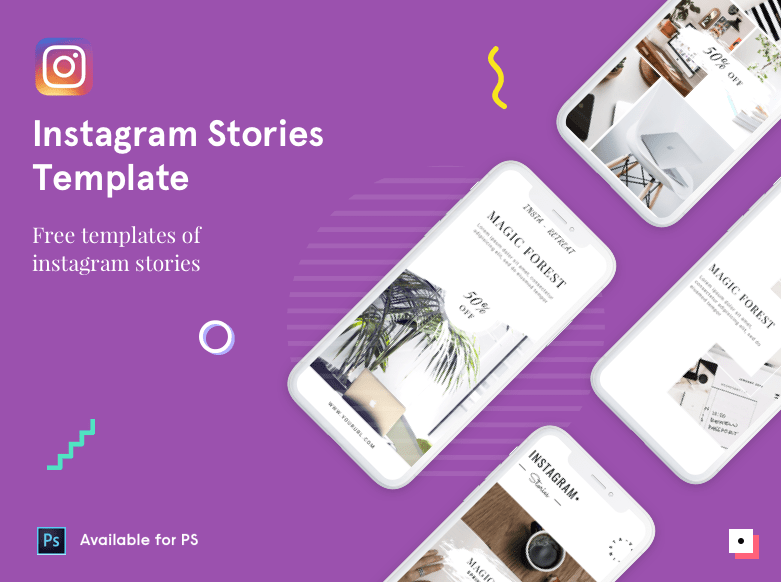 Free Instagram Stories PSD Template-min