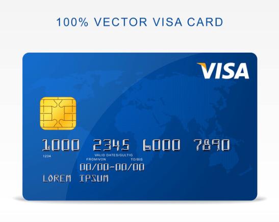 Free Vector Visa Credit Card-min