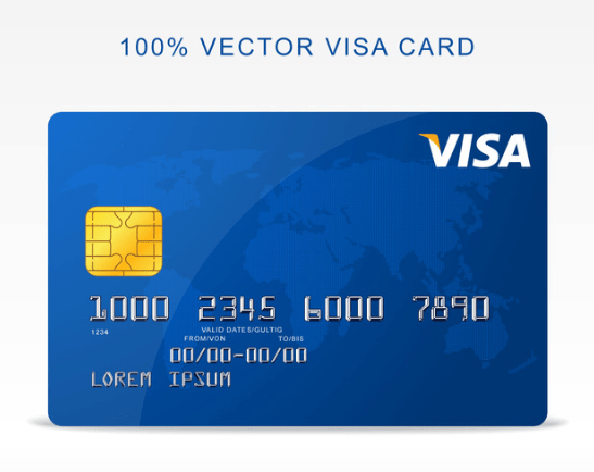 Free Vector Visa Credit Card-min