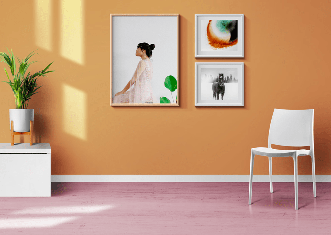 Living Room Photo Frames And Poster Mockups-min