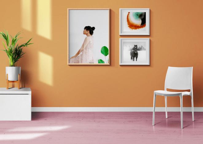 Living Room Photo Frames And Poster Mockups-min
