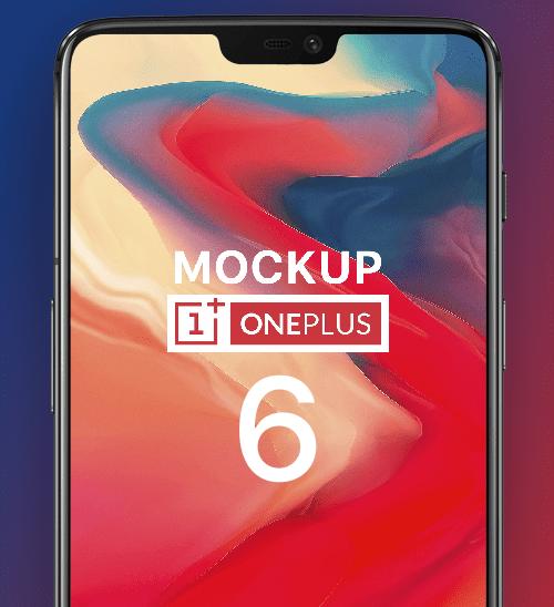 One Plus 6 MockUp- FREE PSD-min
