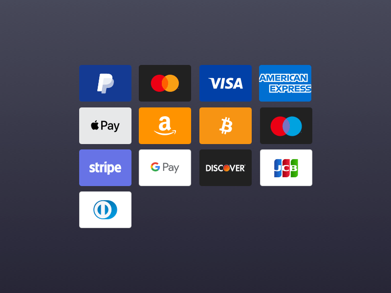 Payment Card Sketch Icons