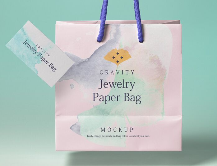 Psd Gravity Shopping Bag Mockup 3-min