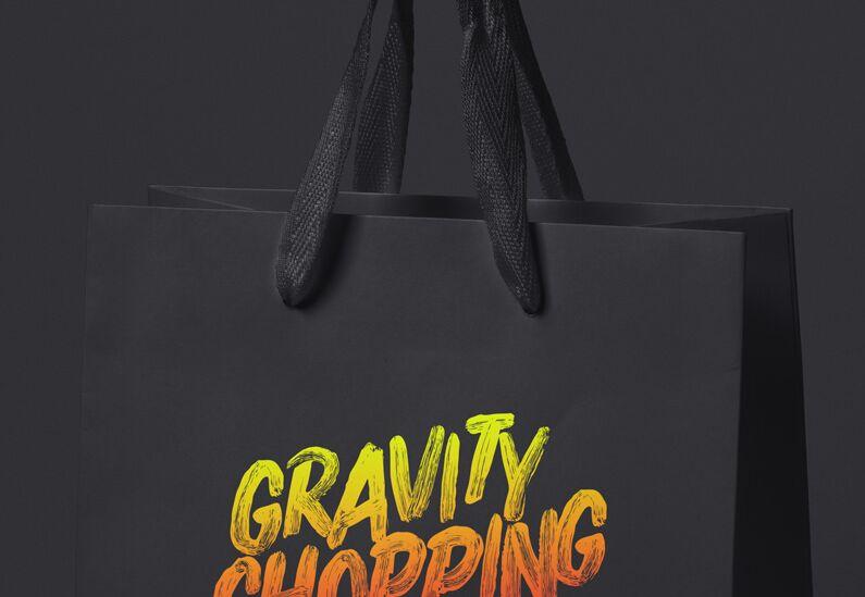 Psd Gravity Shopping Bag Mockup-min