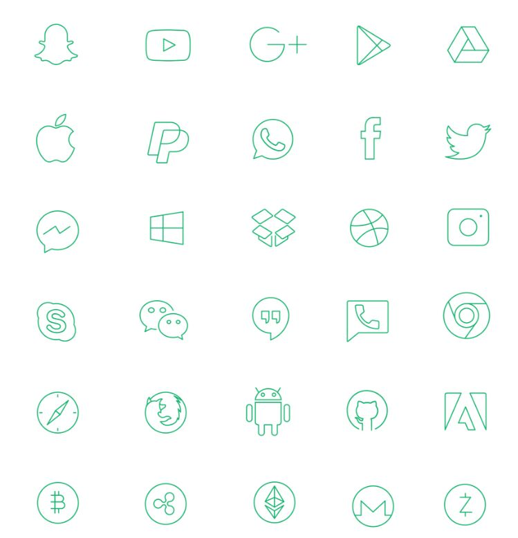Social media and Brand icons Freebie-min