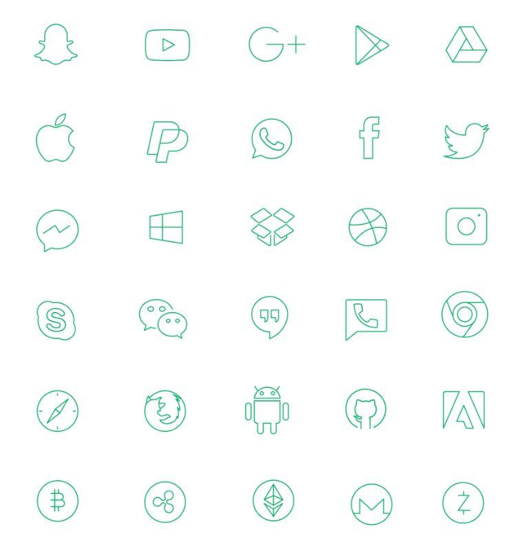 Social media and Brand icons Freebie-min