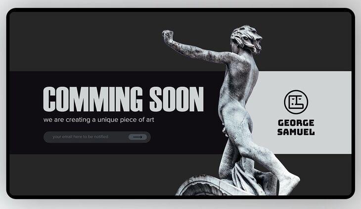Dark Coming Soon UI