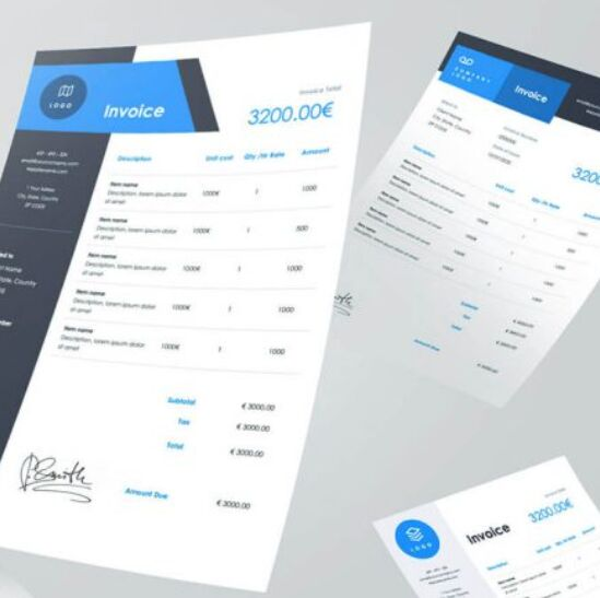 Invoice Free A4 Presentation Template