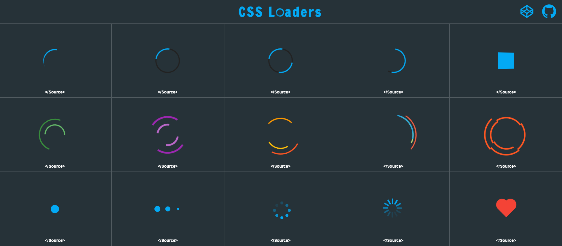 20+ loading spinner libraries in pure javascript and css css script.