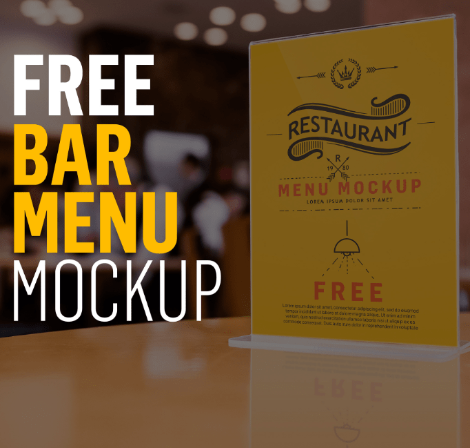 Bar Restaurant Menu Mockup