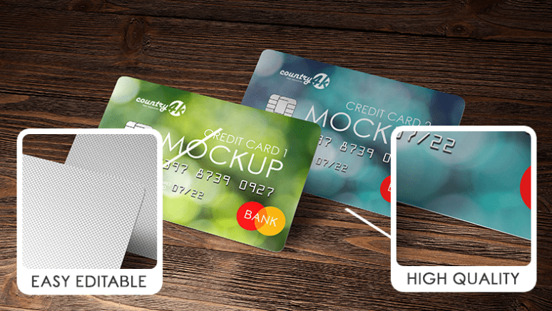 2 Free Credit Card MockUps