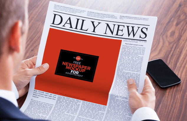 Free Newspaper MockUp For Advertisement