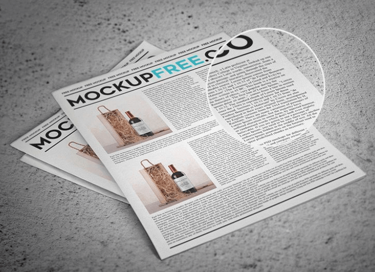 Newspaper Newsletter Free PSD Mockup