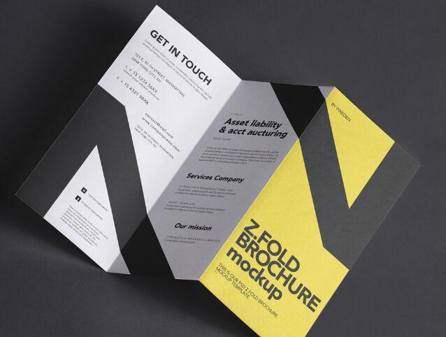 Z-Fold PSD Brochure Mockup
