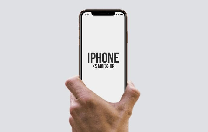 iPhone XS in Hand Mockups