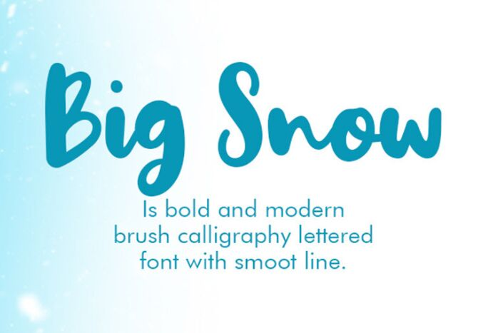 Big Snow Free Font