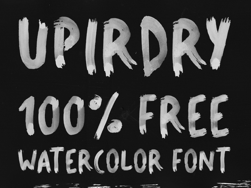 UPIRDRY WATER-BRUSH FONT