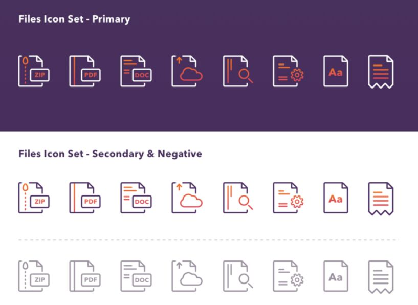 Files Icon Set For Sketch App