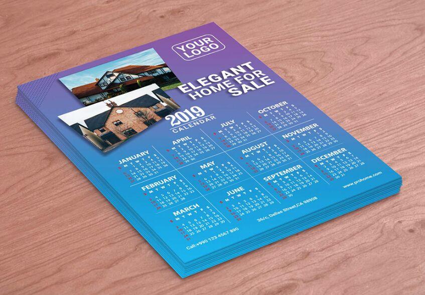 2019 Calendar Free Download