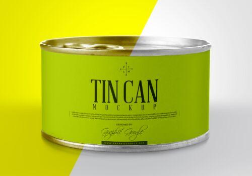 Free Tin Can Mockup PSD