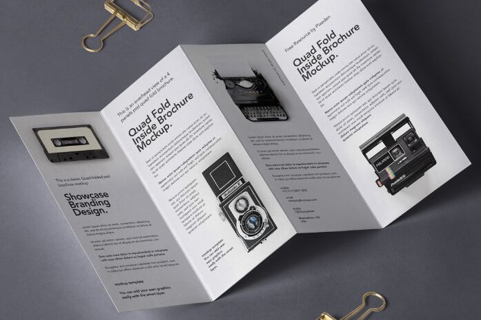 4 Fold Panel PSD Brochure Mockup