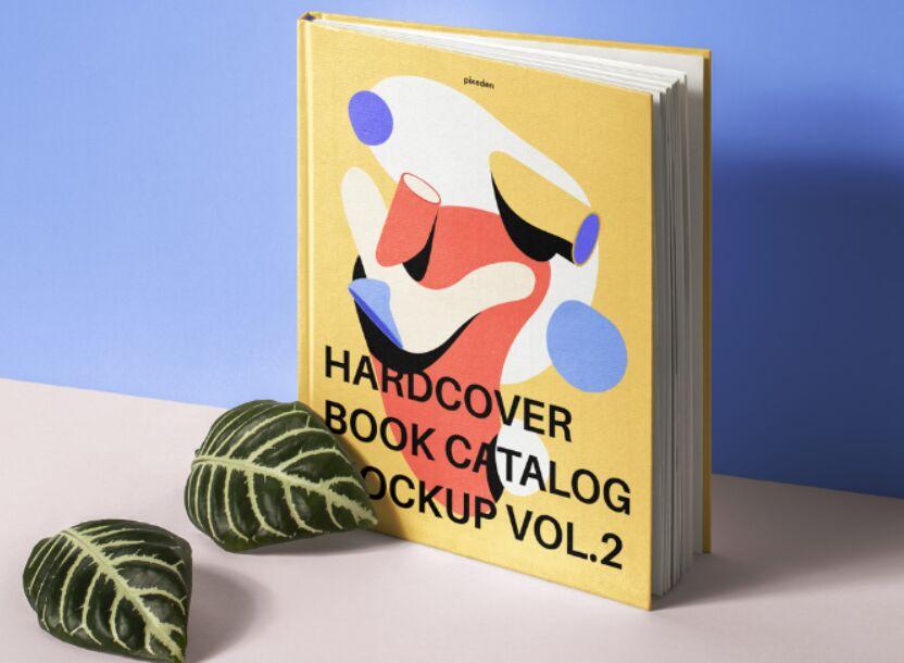 Psd Hardcover Book Catalog Mockup 2