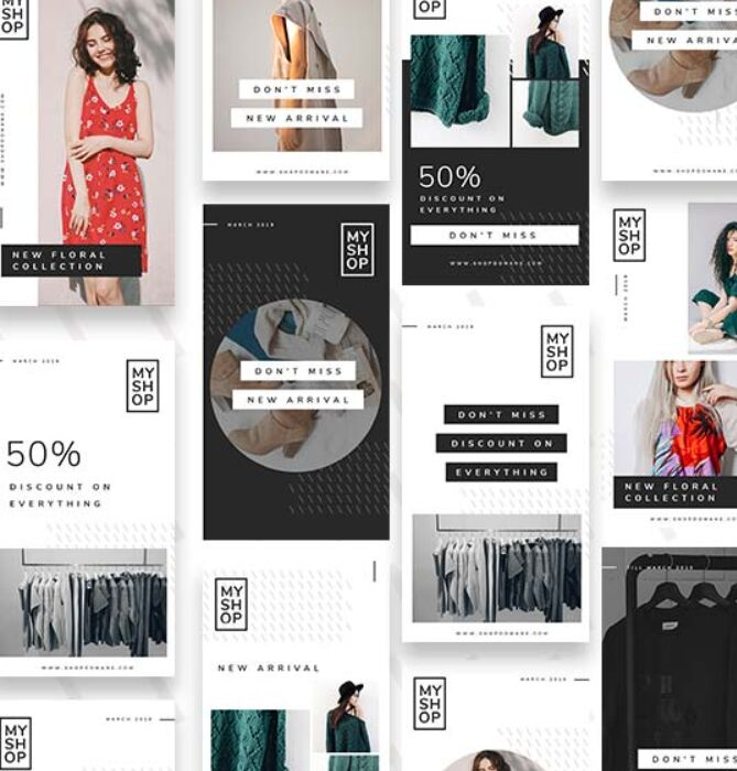12 Shop Instagram Stories Template