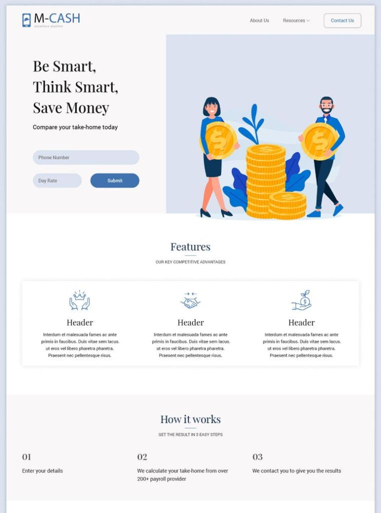 Accounting Landing Page Template FREE PSD