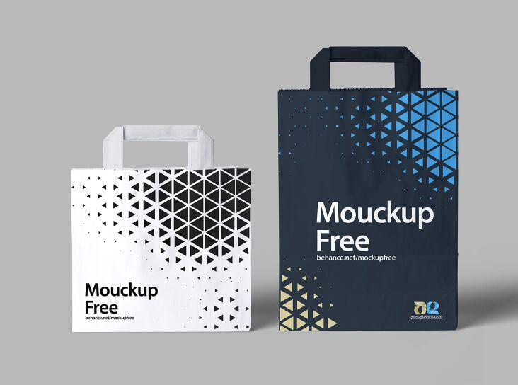 Free Realistic Paper Bag Mockup