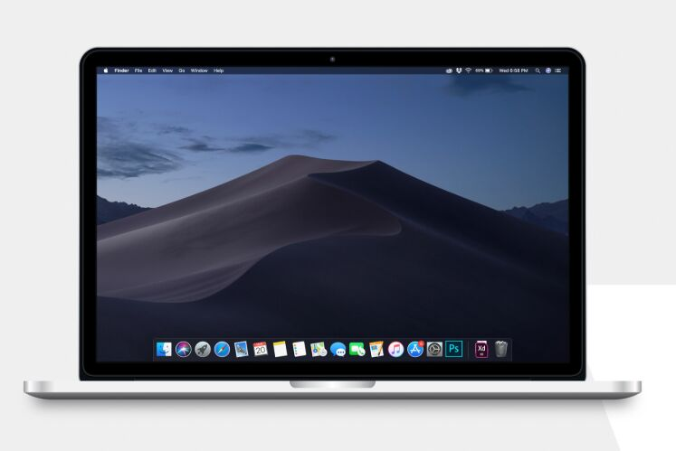 High Res MacBook Pro 13 Mockup PSD