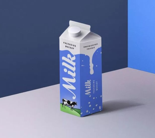 Milk Packaging PSD Mockup