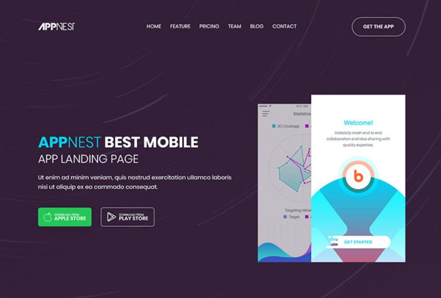Soft App Landing Page Template