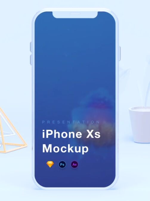 iPhone Xs Mockups [PSD+Sketch+AEP]